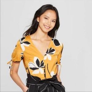 Who what where floral silk top
